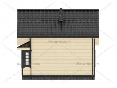 Проект дома из бруса БД-13