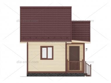 Проект БД-9 Дом из бруса