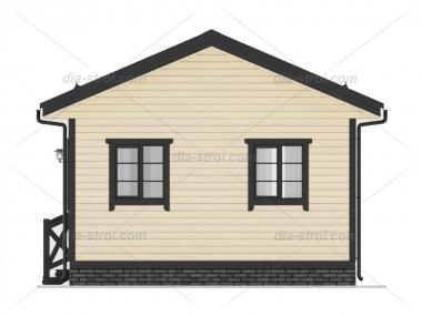 Проект БД-21 Дом из бруса