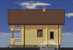 Дом из оцилиндрованного бревна Д-8