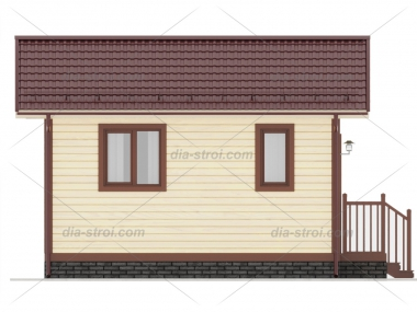 Проект БД-1 Дом из бруса