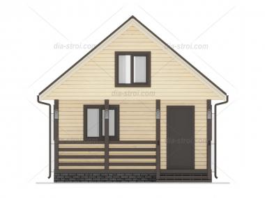 Проект БД-3 Дом из бруса