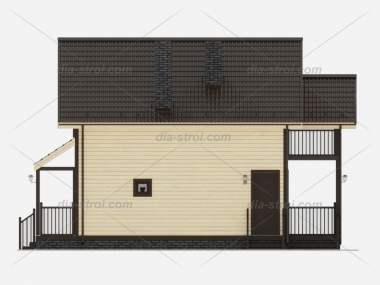 Проект дома из бруса БД-41