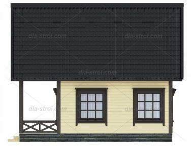 Проект БД-6 Дом из бруса