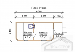 Проект  бани М-8