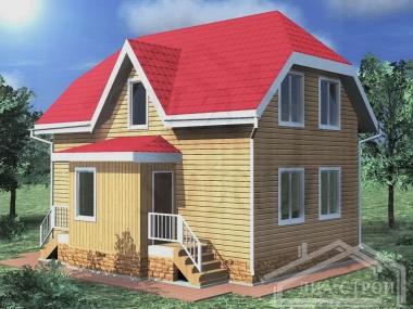 Проект БД-56 Дом из бруса