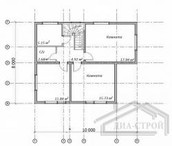 Проект БД-35 Дом из бруса