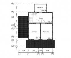 Проект дома из бруса БД-49