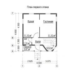 Проект БД-33 Дом из бруса