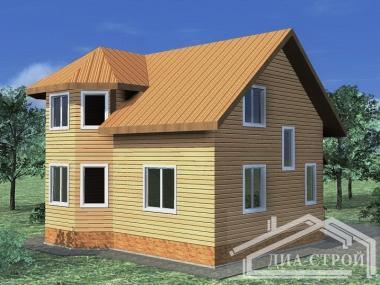 Проект дома из бруса БД-40