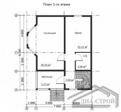 Проект БД-44 Дом из бруса
