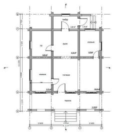 Дом из оцилиндрованного бревна проект Д-12