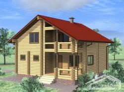 Проект Д-13 Дом из оцилиндрованного бревна