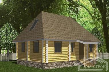 Проект Д-20 Дом из оцилиндрованного бревна