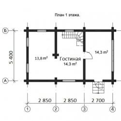 Дом из оцилиндрованного бревна Д-21