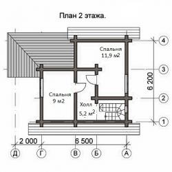 Дом из оцилиндрованного бревна Д-22