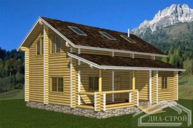 Проект Д-24 Дом из оцилиндрованного бревна