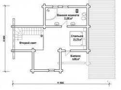 Дом из оцилиндрованного бревна Д-10