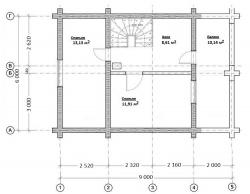 Проект Д-8 Дом из оцилиндрованного бревна