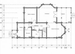 Дом из оцилиндрованного бревна проект Д-28