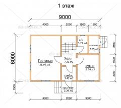 Проект БД-12 Дом из бруса