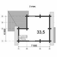 Проект Д-23 Дом из оцилиндрованного бревна