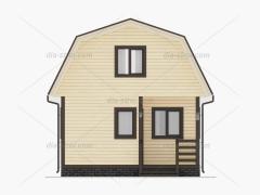 Проект дома с мансардой из бруса БД-18