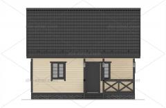 Проект БД-31 Дом из бруса