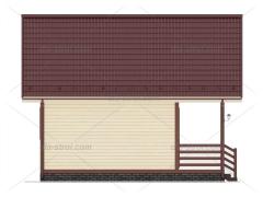 Проект БД-15 Дом с мансардой из бруса