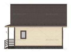 Проект БД-27 Дом с мансардой из бруса