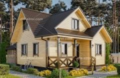 Проект деревянного дома БД-39
