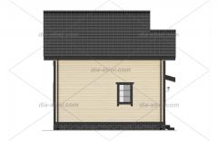 Проект БД-62 Дом из бруса