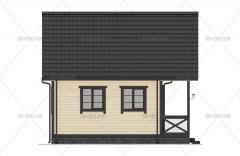 Проект БД-64 Дом из бруса