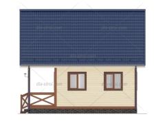 Проект дома из бруса БД-7