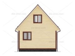 Проект БД-8 Дом из бруса