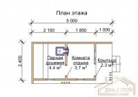 Проект бани М-5