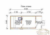Проект  бани М-6