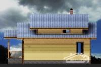 Проект дом-бани Б-129