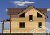 Проект дома из бруса БД-35
