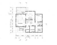 Проект дома из бруса БД-45