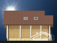 Дом из оцилиндрованного бревна проект Д-11