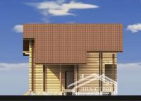 Дом из оцилиндрованного бревна Д-14