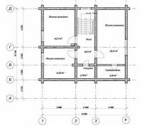 Проект Д-16 Дом из оцилиндрованного бревна