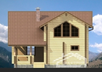 Проект Д-17 Дом из оцилиндрованного бревна