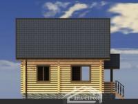 Проект Д-4 Дом из оцилиндрованного бревна