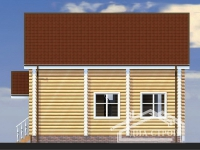 Проект Д-9 Дом из оцилиндрованного бревна
