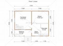 Проект БД-30 Дом из бруса