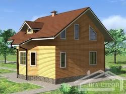 Проект дома из бруса БД-31